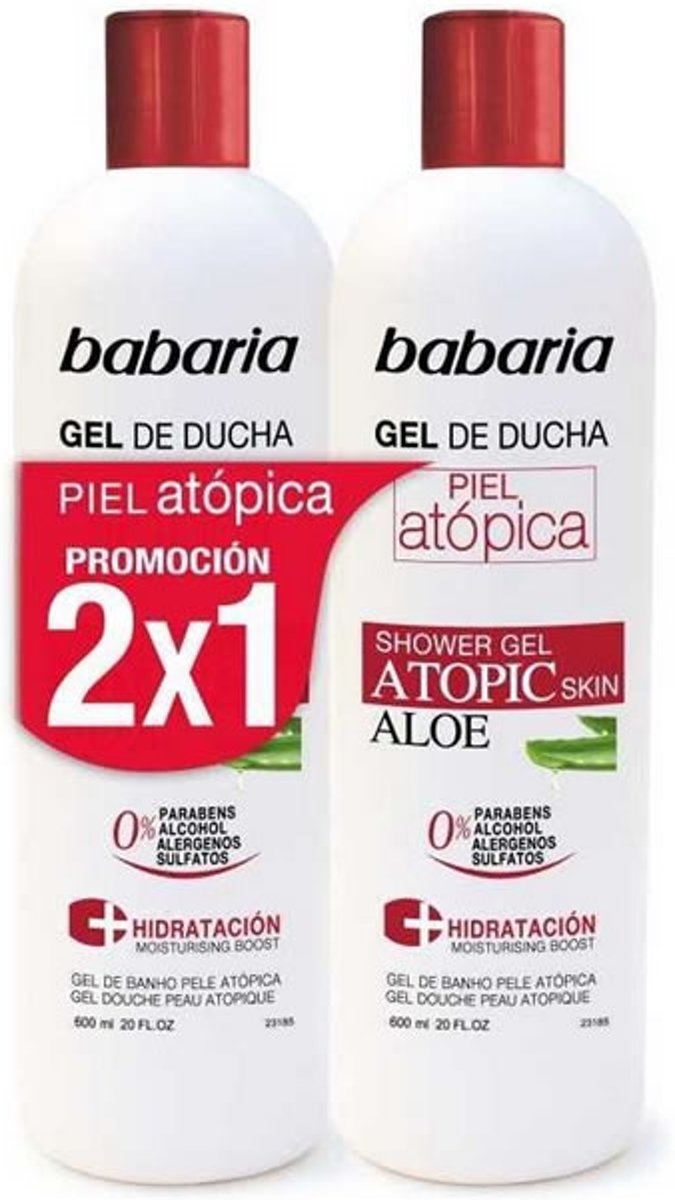 Babaria Douchegel Atopic Skins 600ml - 2 Stuks