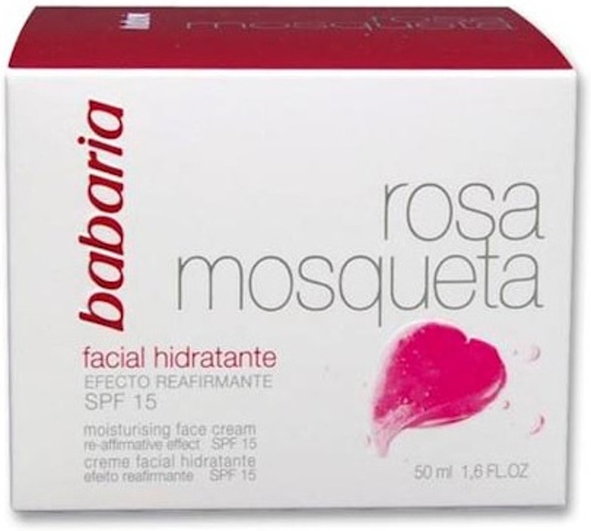 Babaria Face Cream 24 Hour Moisture Rose hip Oil Spf15 50ml