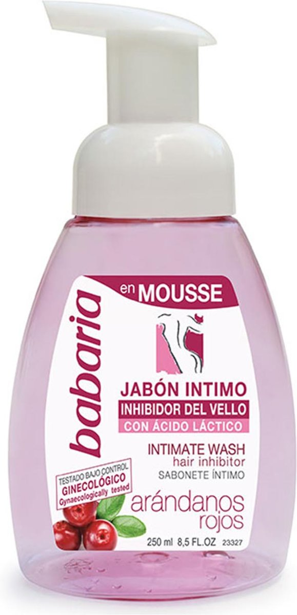 Babaria Intimate Wash Mousse With Hair Inhibitor 250 ml