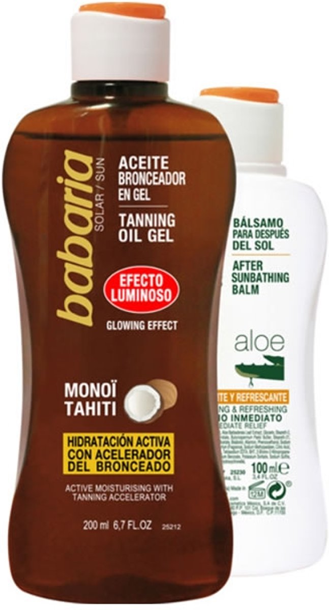 Babaria Solar Oil Bronzing Gel Shining + After Sun 300 ml