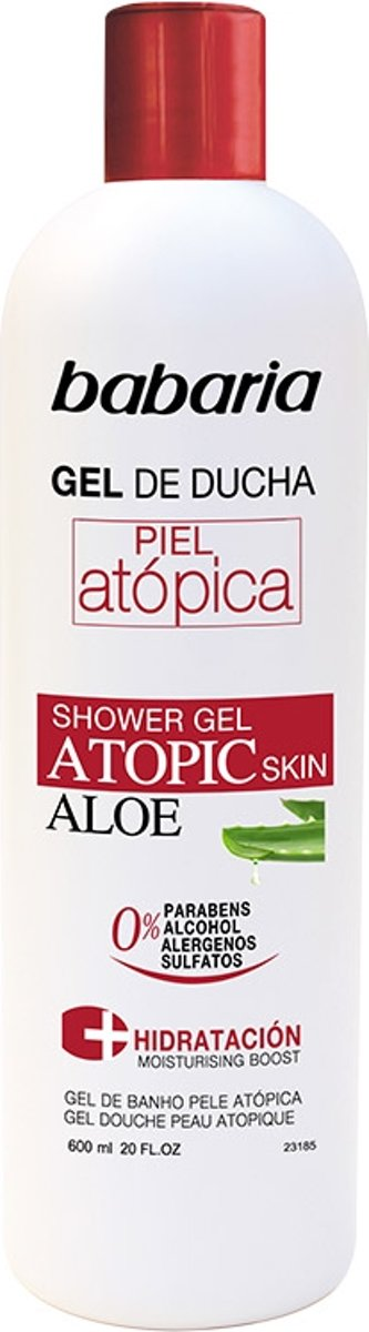 MULTI BUNDEL 5 stuks Babaria Aloe Vera Shower Gel Atopic Skin 0% 600ml