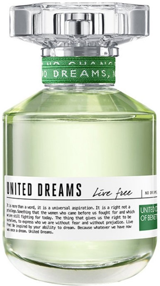 Benetton Live Free Eau de Toilette Spray 50 ml