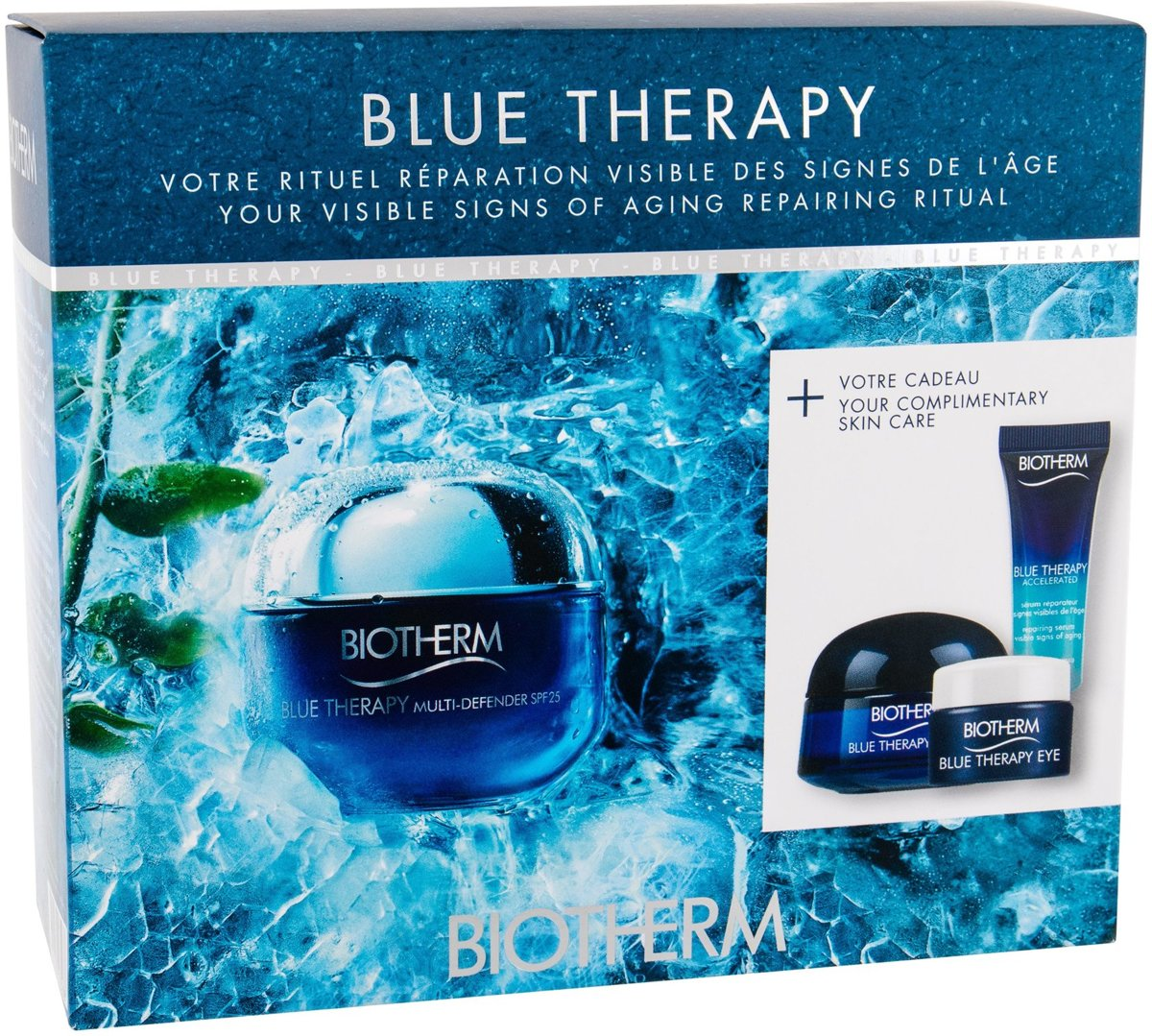 Biotherm BLUE THERAPY MULTI-DEFENDER NORMAL/COMBINATION SKIN SET 4pz