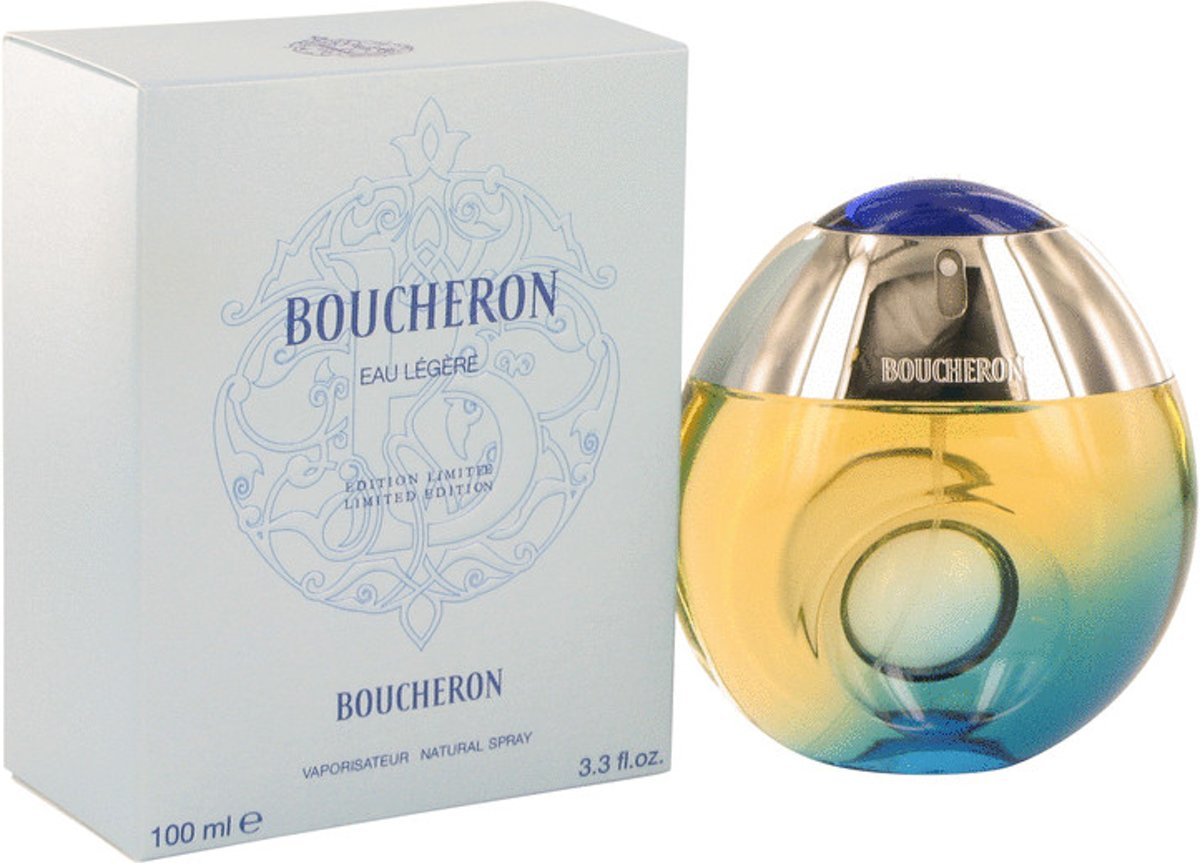 Boucheron Eau Legere 100 ml - Eau De Toilette Spray (Blue Bottle, Bergamote, Genet, Narcisse, Musc) Damesparfum