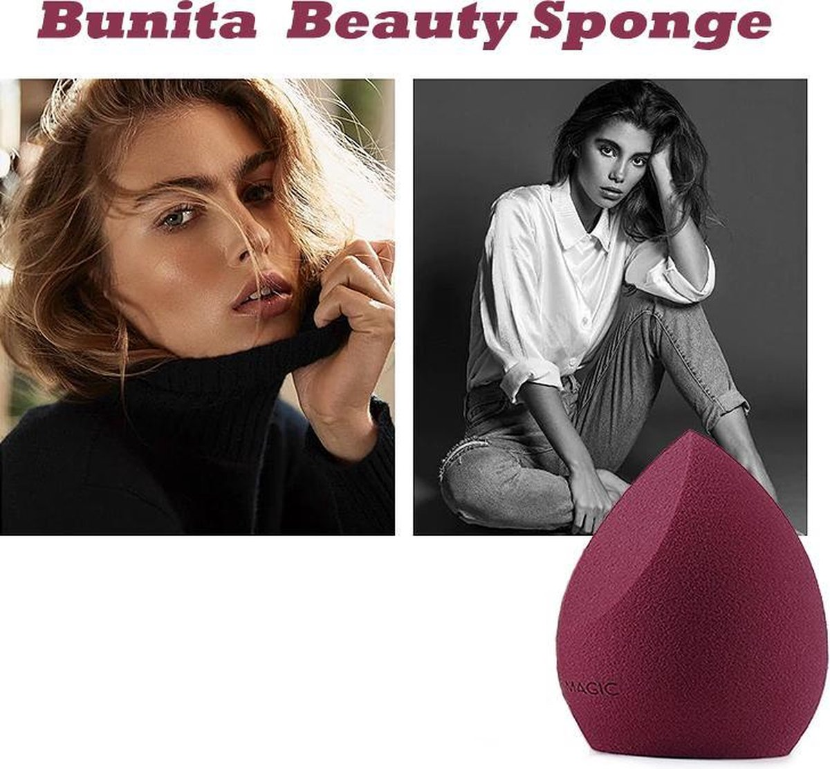 Makeup Sponge - Cosmetic Foundation Puff - Make-up Concealer Cream Soft Sponge - Make Up Spons - Blush Make Up Sponge - Makeup Blender - Gezicht Sponsje - Foundation Blender