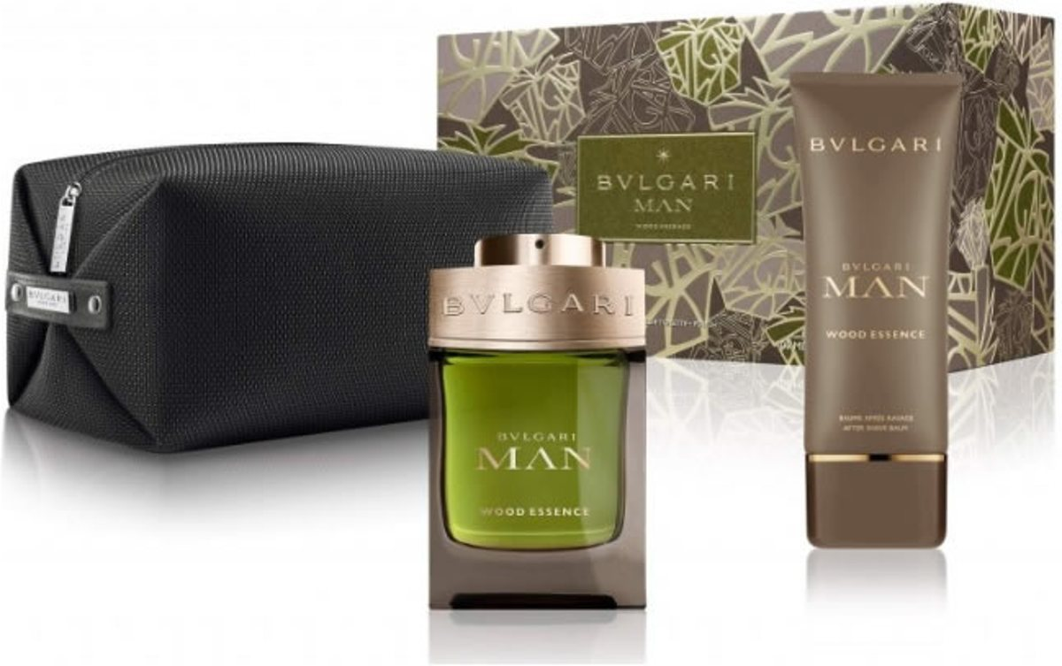 Bvlgari Man Wood Essence 100ml Edp + Pouch + Balm set