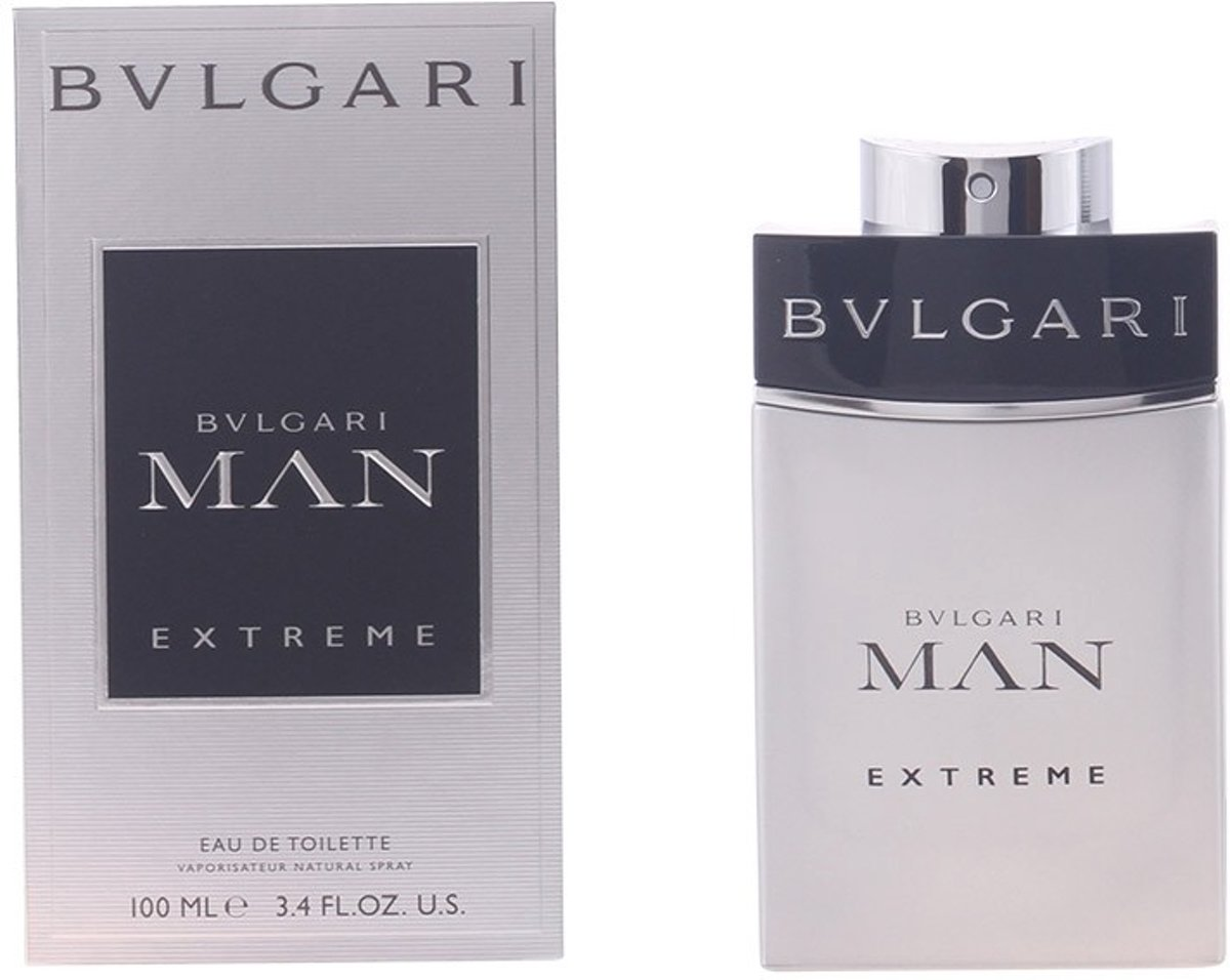 MULTI BUNDEL 2 stuks BVLGARI MAN EXTREME eau de toilette spray 100 ml