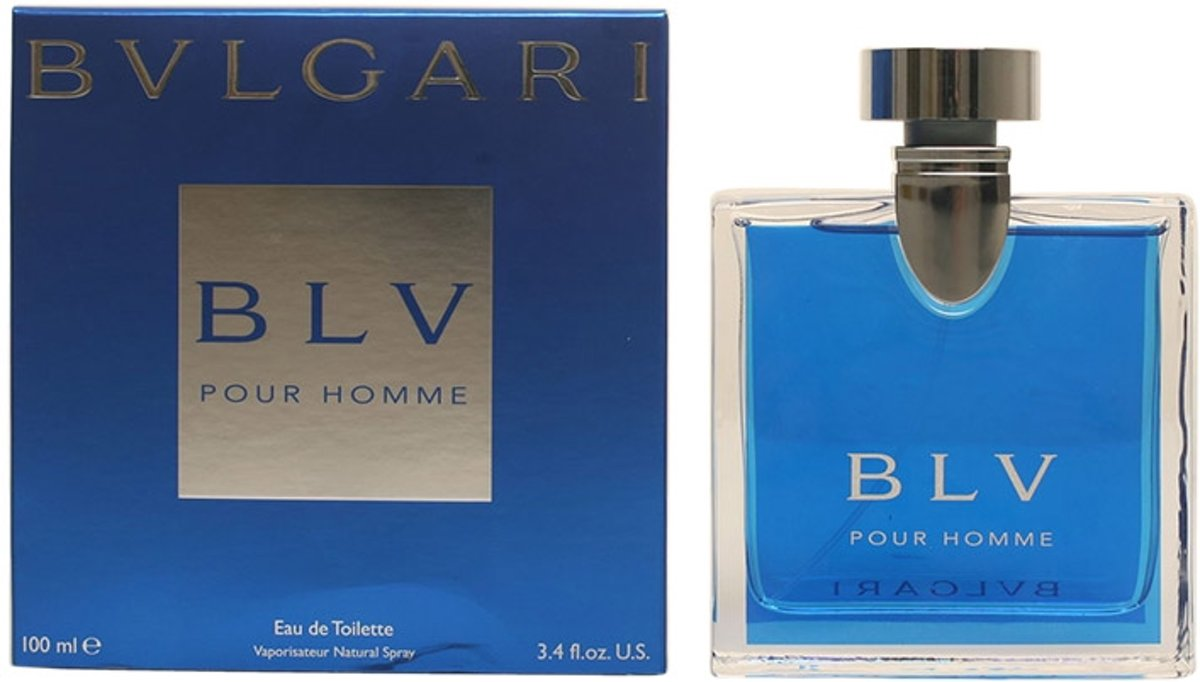MULTI BUNDEL 2 stuks Bvlgari Blv Homme Eau De Toilette Spray 100ml