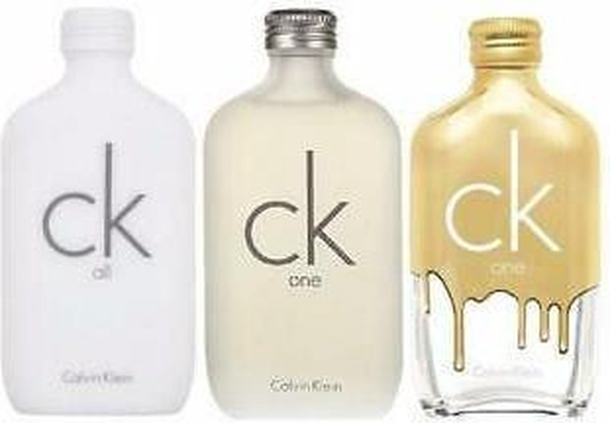Calvin Klein CK One Geschenkset 50ml EDT CK One + 50ml EDT CK All + 50ml EDT CK One Gold