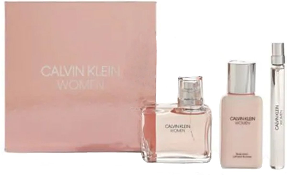 Calvin Klein Women 100ml EDP / 100ml Body Lotion / 10ml EDP Spray