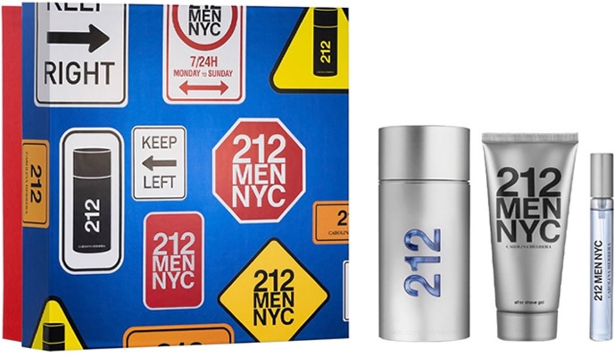 Carolina Herrera 212 Men Nyc Eau De Toilette Spray 100ml Set 3 Pieces 2020