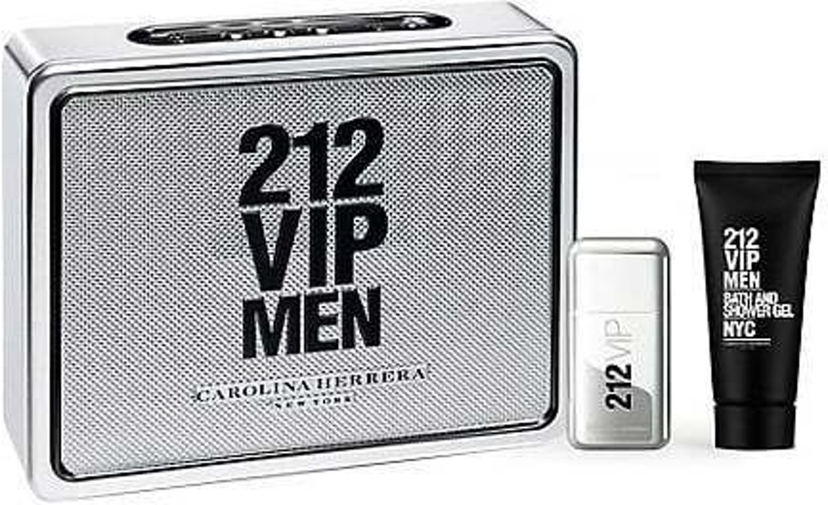 Carolina Herrera 212 VIP Men Giftset EDT 50 ml + Showergel 75 ml