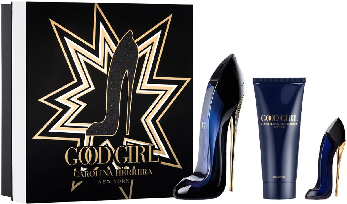 Carolina Herrera GOOD GIRL VOORDELSET Eau de Parfum spray 80ml + body lotion 80ml + Eau de Parfum spray 7ml