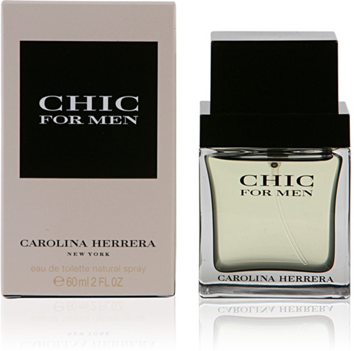 Herenparfum Chic For Men Carolina Herrera (60 ml)