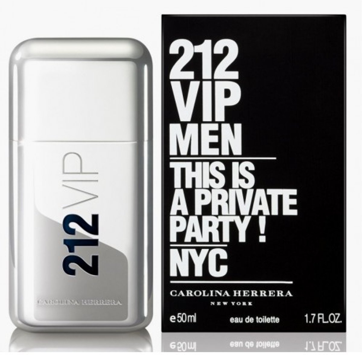 MULTI BUNDEL 2 stuks Carolina Herrera 212 Vip Men Eau De Toilette Spray 50ml