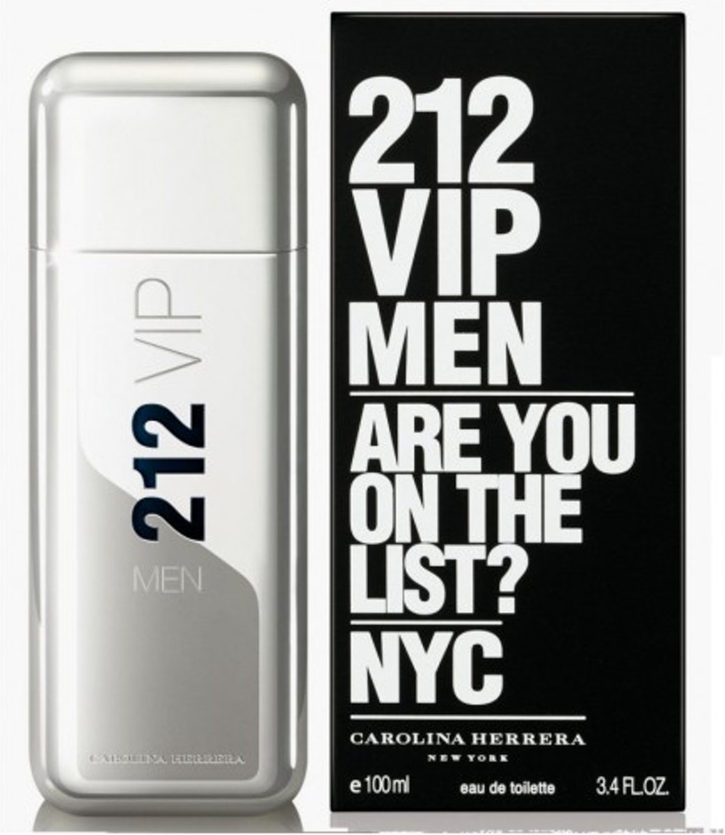 MULTI BUNDEL 3 stuks Carolina Herrera 212 Vip Men Eau De Toilette Spray 100ml