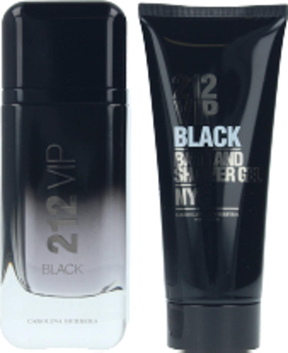 Nuxe Carolina Herrera 212 VIP Black Men Eau De Perfume Spray 100ml Set 2 Pieces 2019