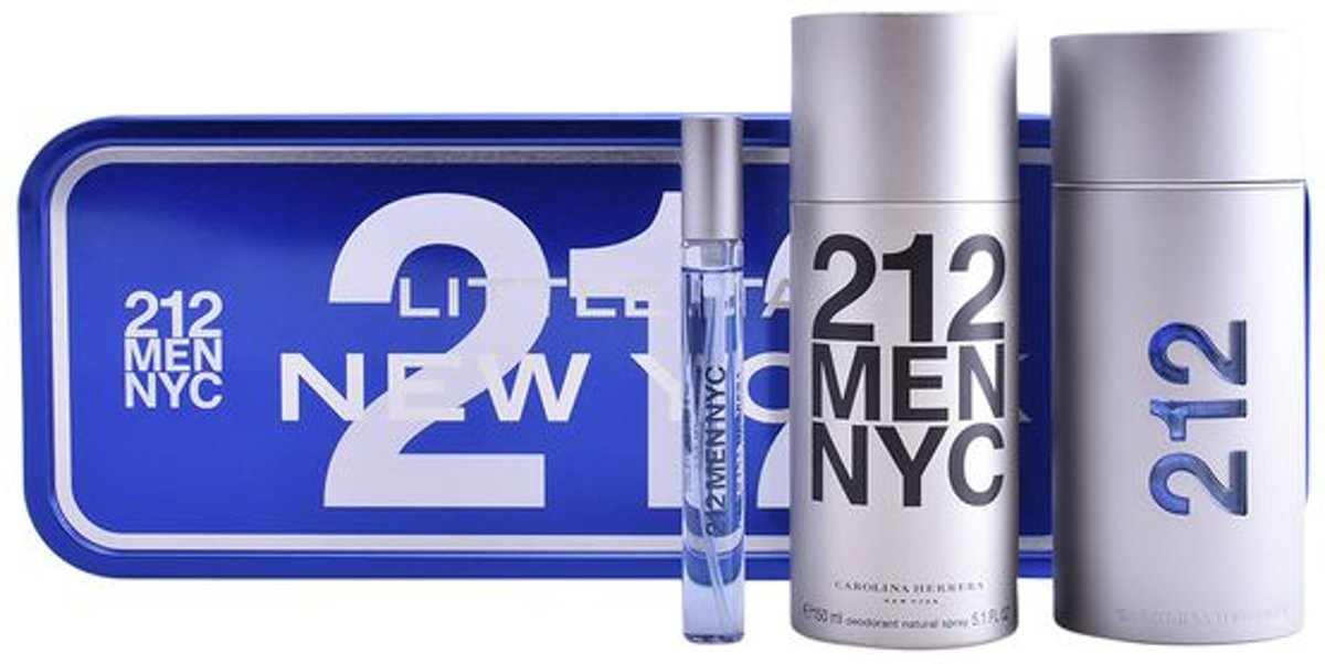 Parfumset voor Heren 212 Nyc Carolina Herrera (3 pcs)
