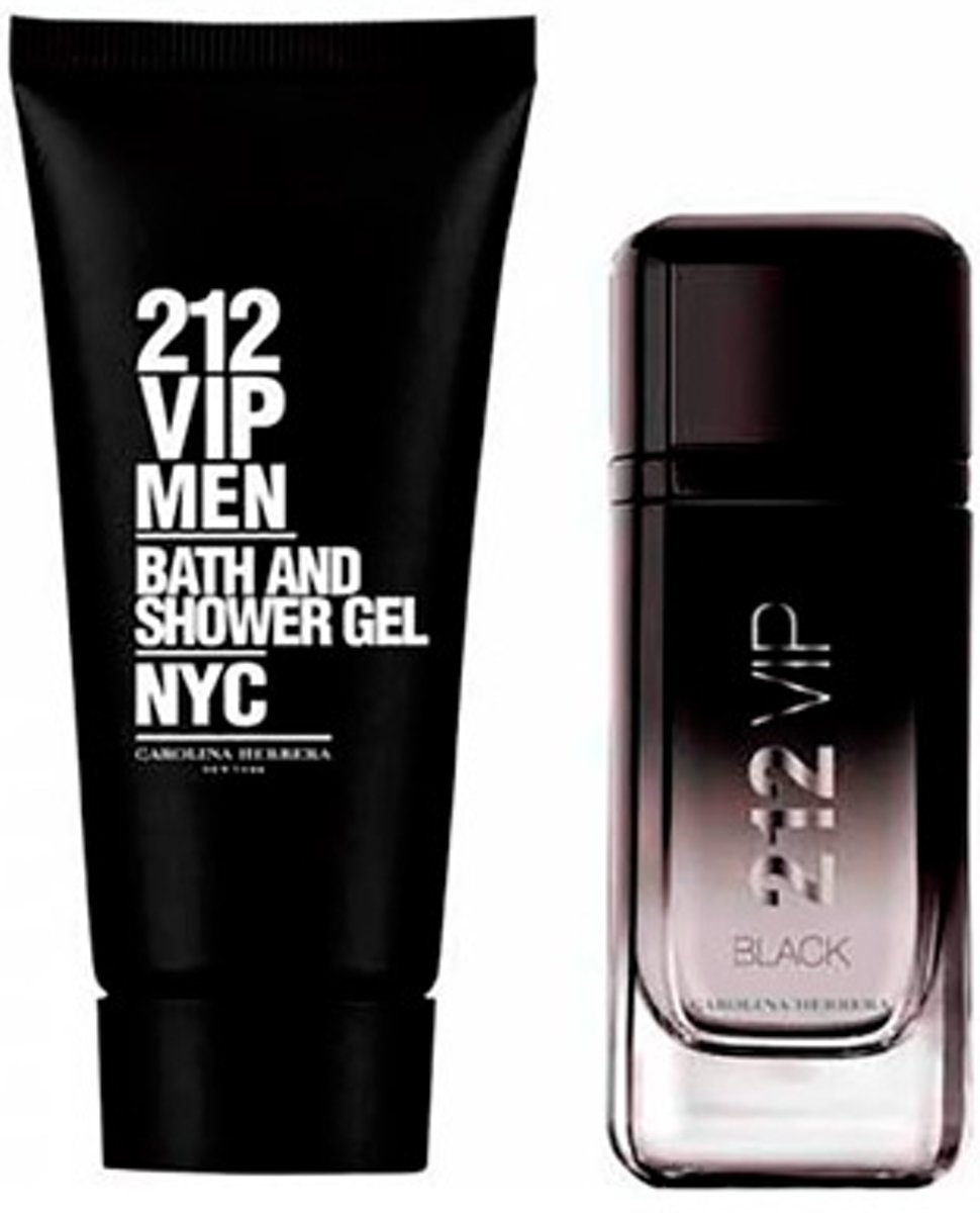 Parfumset voor Heren 212 Vip Black Carolina Herrera (2 pcs)