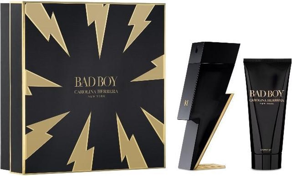 Carolina Herrera Bad Boy Eau De Toilette Spray 100ml Set 2 Pieces 2020