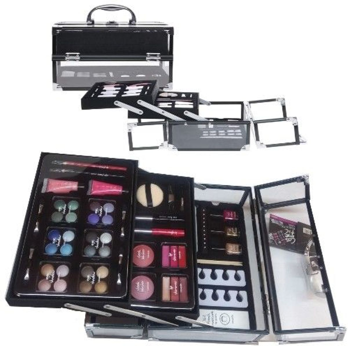 CASUELLE MAKE-UP LUXE KOFFER 91-DELIG TRANSPARANTE KOFFER
