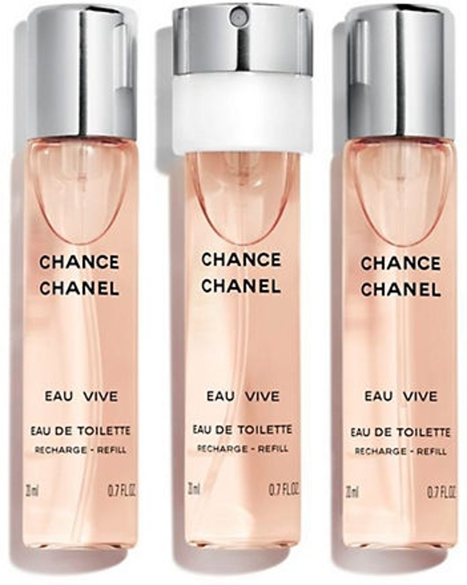 Chanel Chance Eau Vive - 3 x 20 ml - recharge purse spray eau de toilette