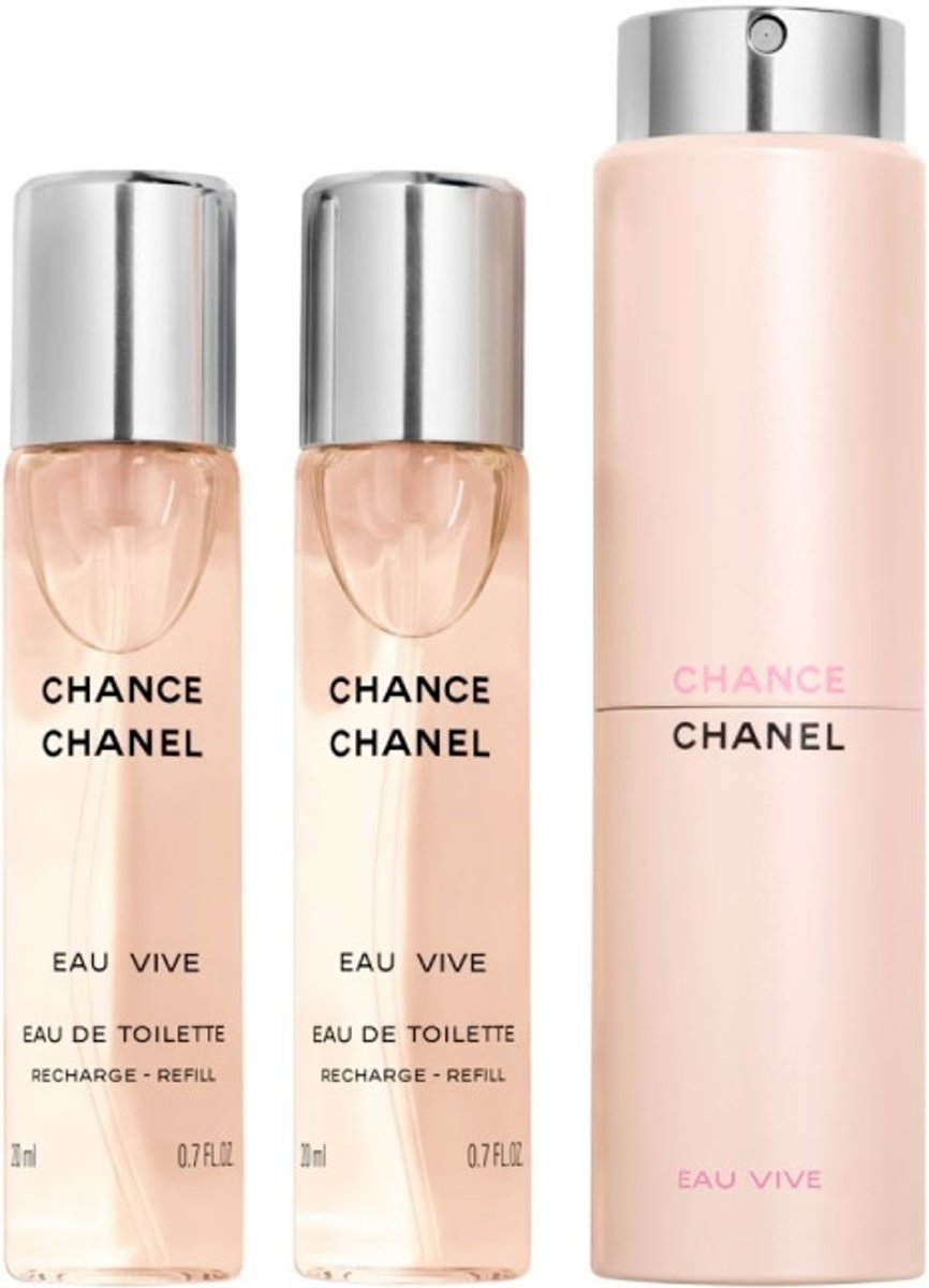 Chanel Chance Eau Vive - 3 x 20 ml - twist and spray eau de toilette
