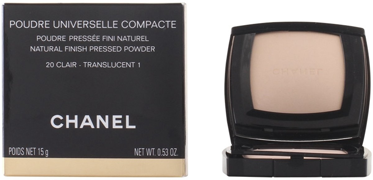 Chanel Poudre Universelle Compacte Natural Finish Pressed Powder - 20 Clair Translucent 1 - 15 g - compacte poeder
