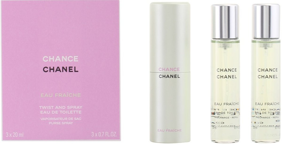 MULTI BUNDEL 2 stuks CHANCE EAU FRAICHE Eau de Toilette Spray twist&spray 3 x 20 ml