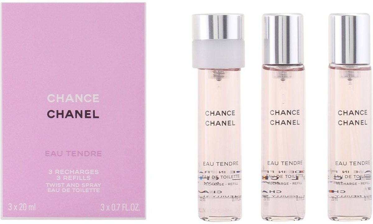 MULTI BUNDEL 2 stuks CHANCE EAU TENDRE Eau de Toilette Spray refill 3 x 20 ml