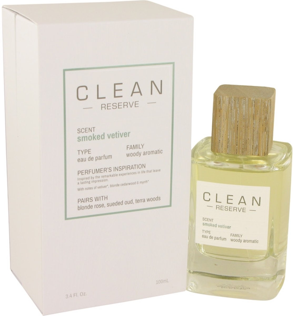 Clean Smoked Vetiver eau de parfum spray 100 ml