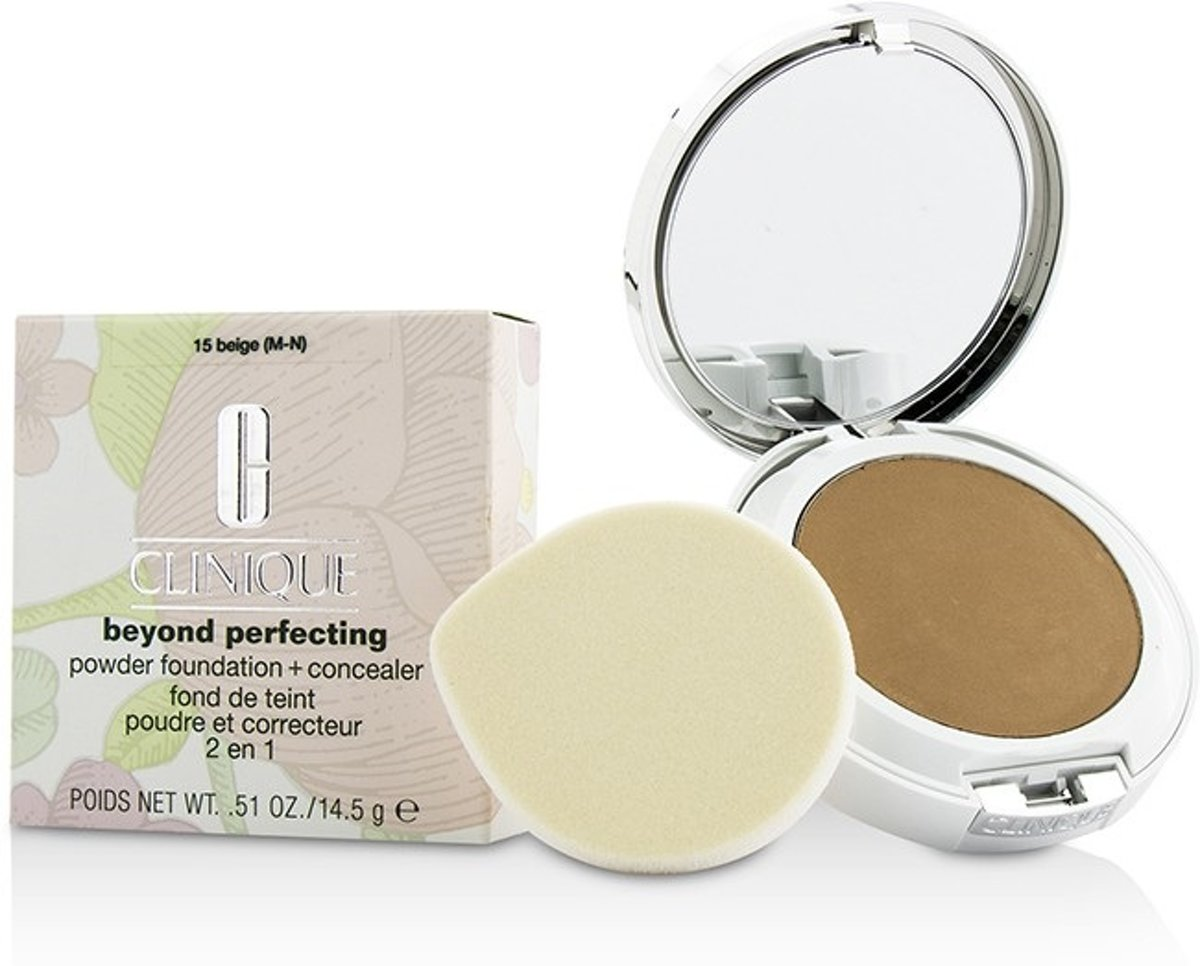 Clinique Beyond Perfecting Powder Foundation & Concealer - 15 Beige - Foundation