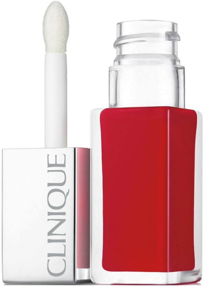 Clinique Pop Lacquer Lip Colour + Primer - 02 Lava Pop - lipgloss