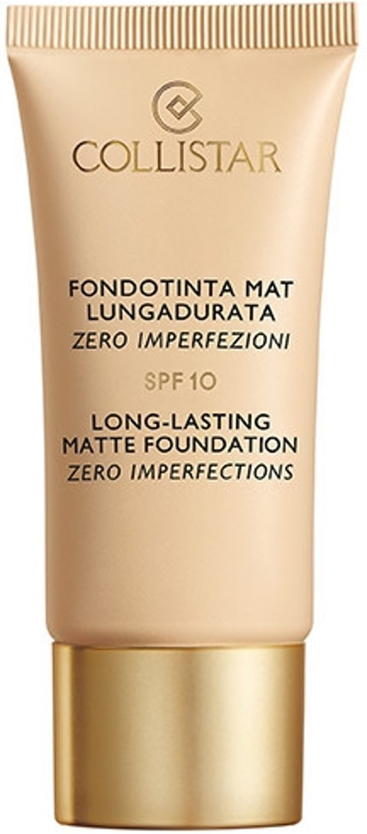Collistar - Long-Lasting Matte Foundation Zero Imperfections - 3 Nude