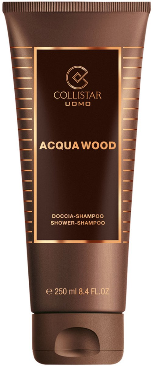 Collistar Man Acqua Wood Shower Shampoo - 250 ml - Douchegel