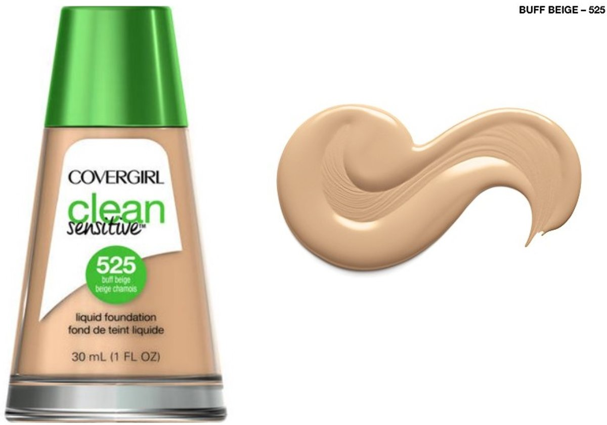 Covergirl Clean Sensitive Skin Foundation - 525 Buff Beige
