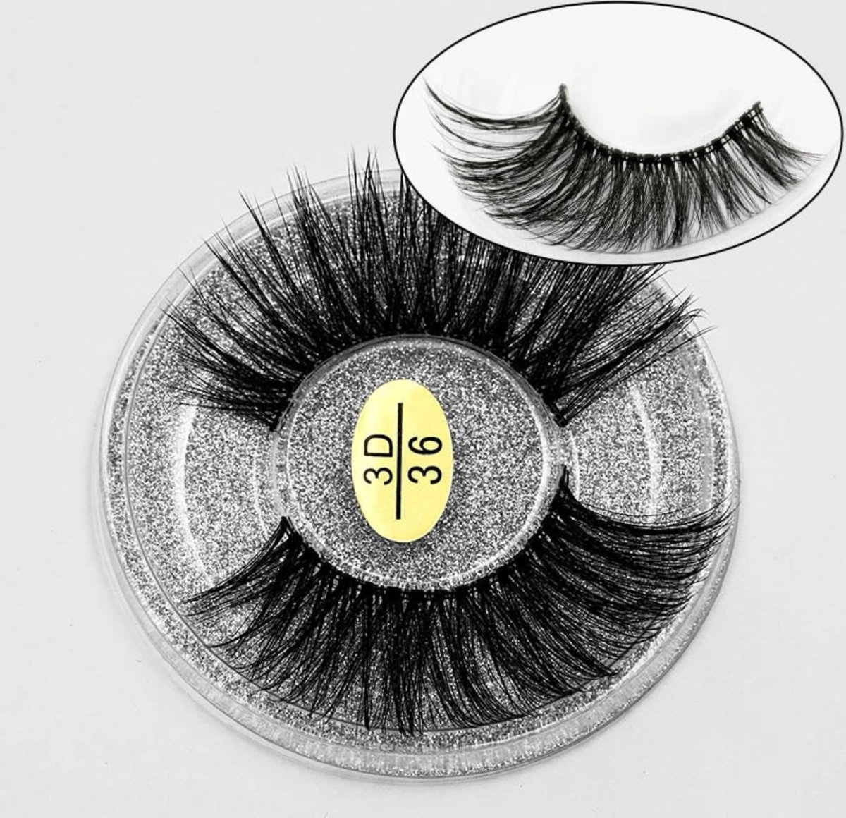 3D mink lashes - Black