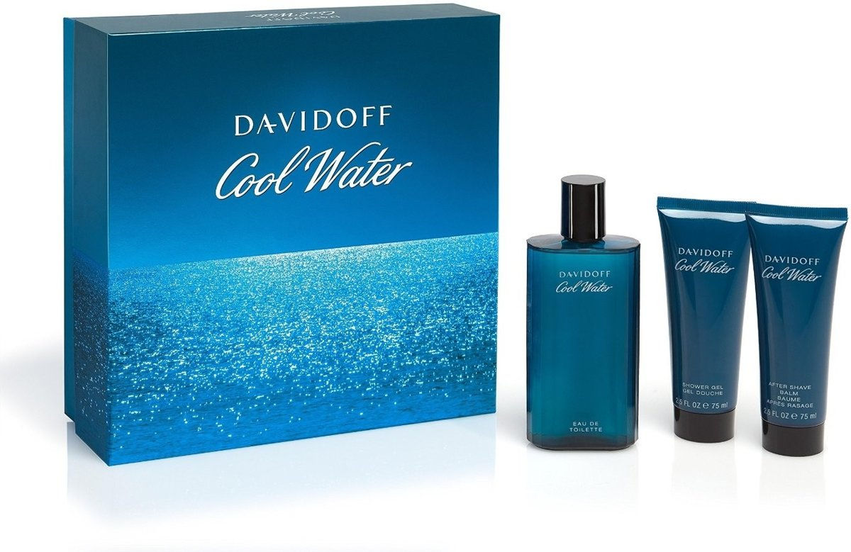Davidoff - Eau de toilette - Cool Water 125ml eau de toilette + 75ml Showergel + 75ml Aftershave Balm - Gifts ml
