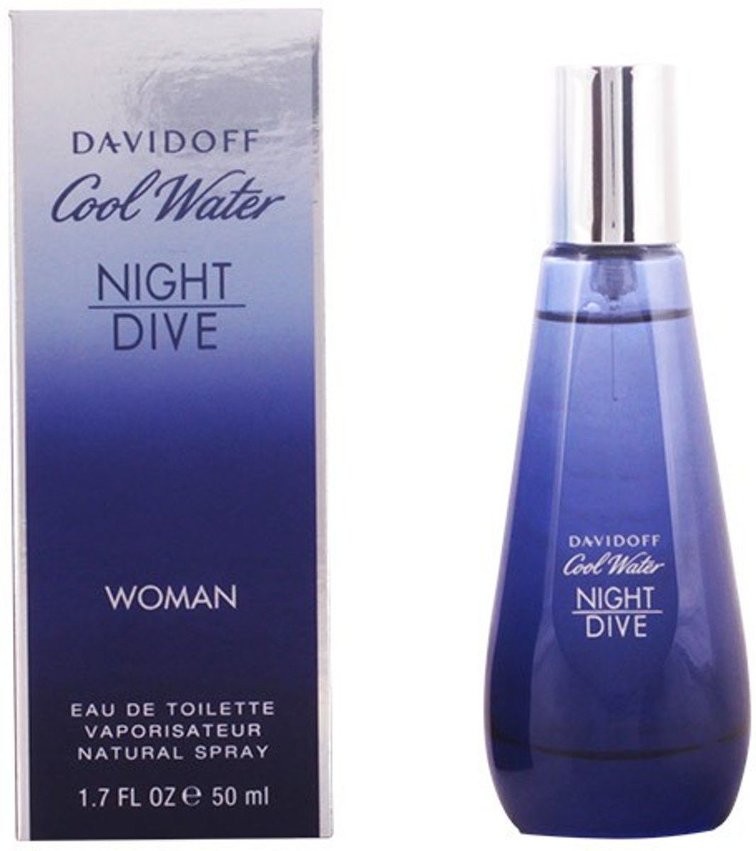 MULTI BUNDEL 2 stuks COOL WATER NIGHT DIVE WOMEN Eau de Toilette Spray 50 ml
