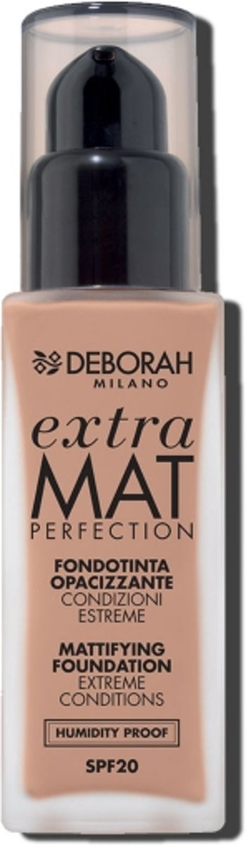 Deborah Milano FONDOTINTA EXTRA MAT PERFECTION 30ml 36g Fles Vloeistof foundationmake-up