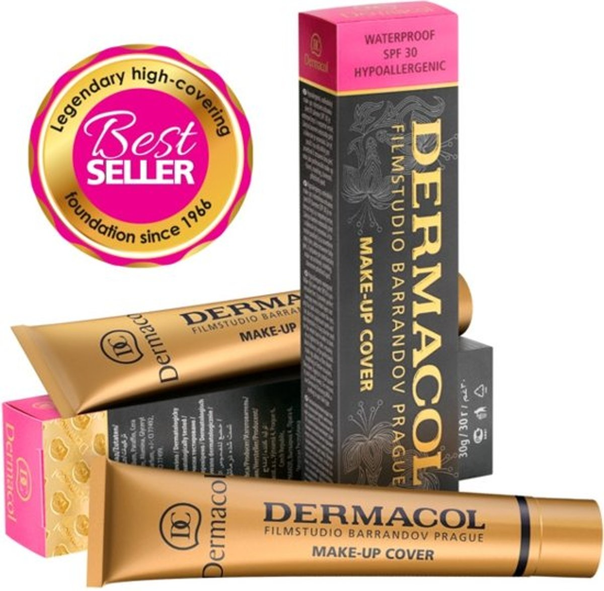 DERMACOL CAMOUFLAGE MAKE-UP COVER LEGENDARY HIGH COVERING MAKE-UP - 30 GRAM - VROUW - WATERPROOF - TINT 224