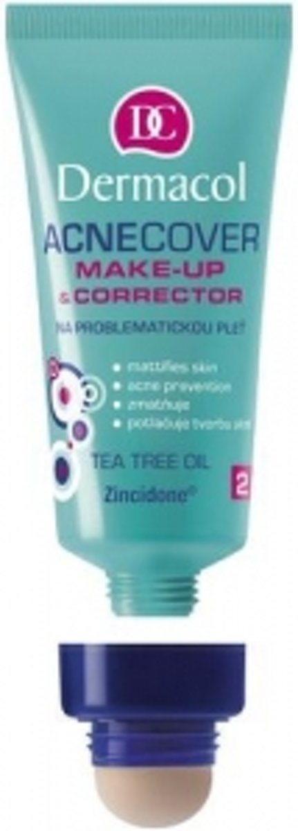 Dermacol camouflage 2 in 1 simple Acnecover Make-Up & Corrector 01- 30ml - Vrouw