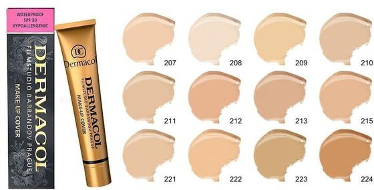 Dermacol make-up cover Legendary high covering make-up - 30 gram - vrouw - Waterproof - Tint 215