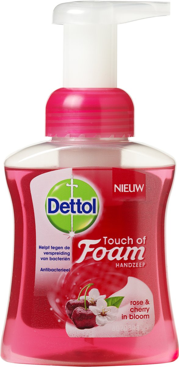 Dettol Touch of Foam Handzeep Rose & Cherry - 250 ml