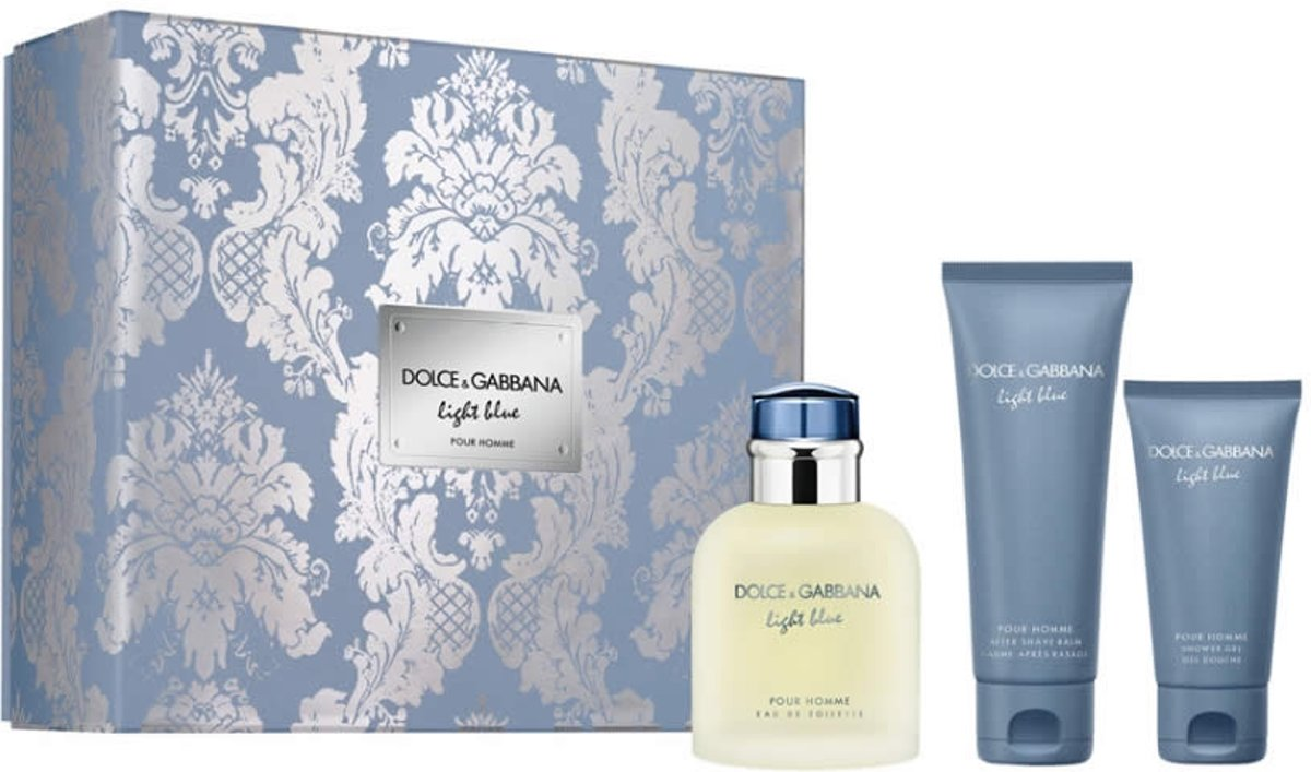 Dolce & Gabbana LIGHT BLUE POUR HOMME SET 3 pz