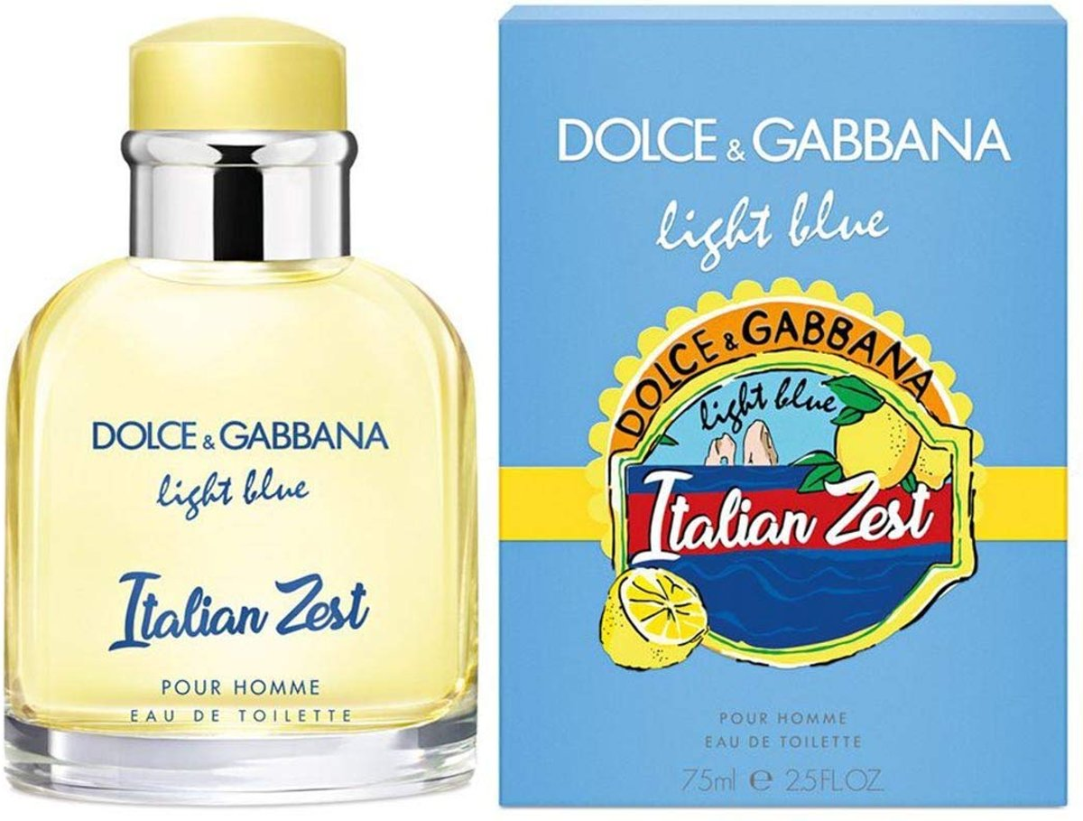 Dolce & Gabbana Light Blue Pour Homme Italian Zest Eau de Toilette Spray 125 ml