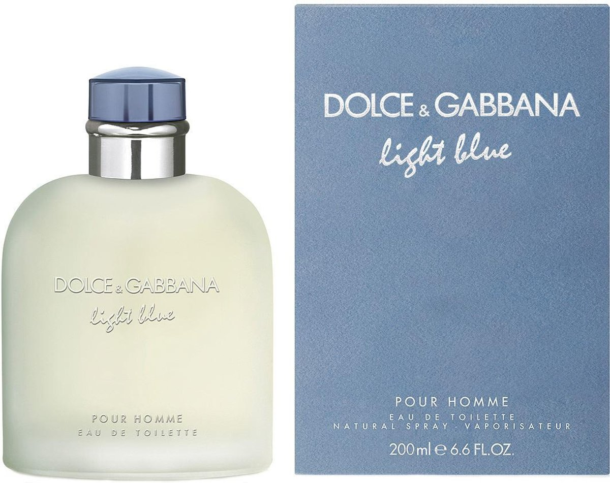 MULTI BUNDEL 2 stuks Dolce And Gabbana Light Blue Homme Eau De Toilette Spray 200ml