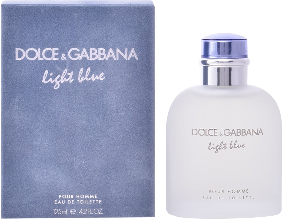 MULTI BUNDEL 2 stuks Dolce and Gabbana Light Blue Homme Eau De Toilette Spray 125ml