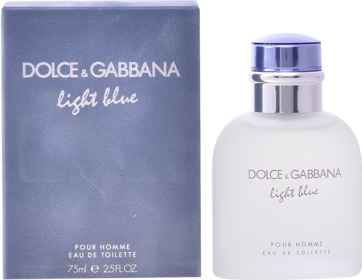 MULTIBUNDEL 2 stuks Dolce and Gabbana Light Blue Homme Eau De Toilette Spray 75ml