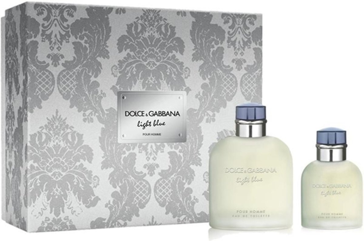 Prada Dolce & Gabbana Light Blue Homme Eau De Toilette Spray 125ml Set 2 Pieces 2018